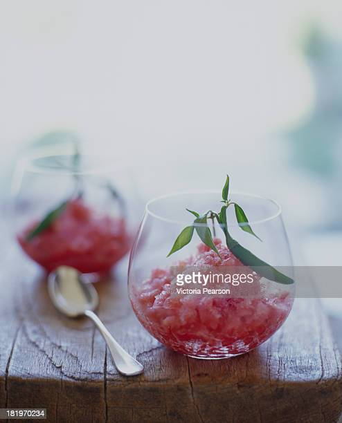 tomato and watermelon granita with hot chile peppe - sorbet stock pictures, royalty-free photos & images