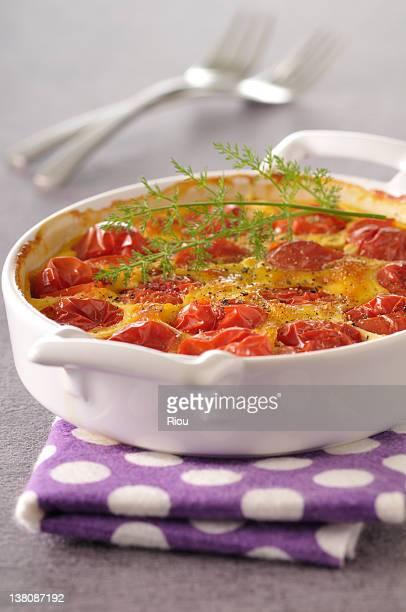 Tomato cake or clafouti