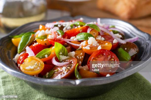 tomato salad - cherry tomato stock pictures, royalty-free photos & images