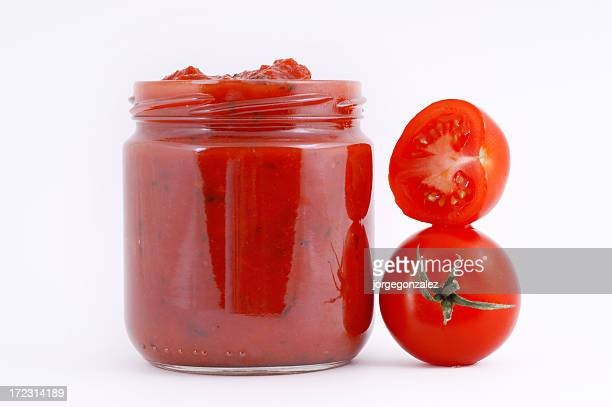 Tomato sauce in a container