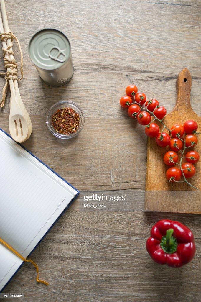 Tomato sauce recipe : Stock Photo