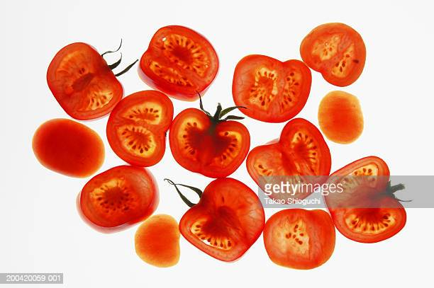 Tomato slices, cross-section