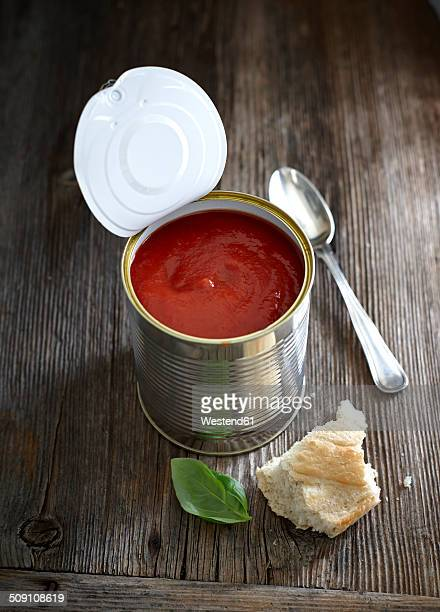 Tomato soup in tin can
