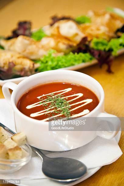 トマトスープのお食事