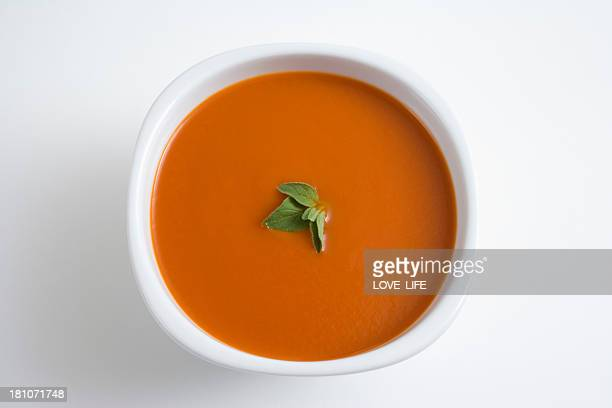 tomato soup - soup stock pictures, royalty-free photos & images