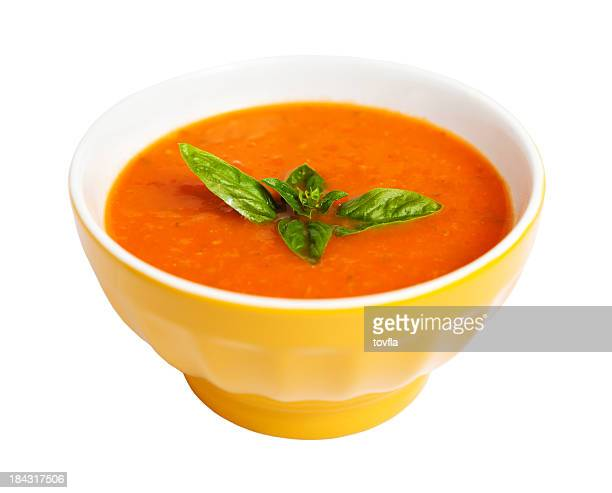 tomato soup - bowl stock pictures, royalty-free photos & images