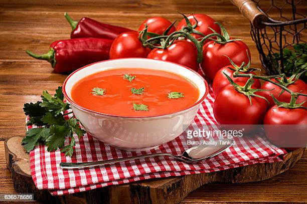 tomato soup - tomato soup stock photos and pictures