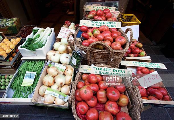 Tomates y otros verduras en Barbastro