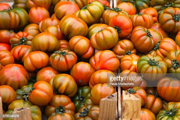 Tomatoes at street market