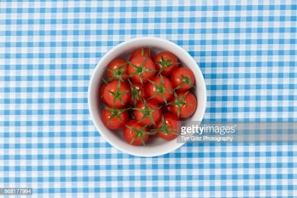 Tomatoes in a White Porcelain Bowl