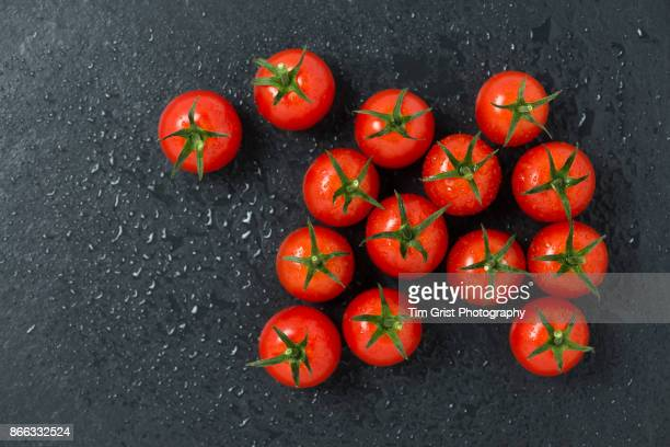 Tomatoes on Slate Surface