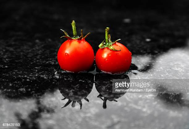 Tomatoes On Water During Rainy Season