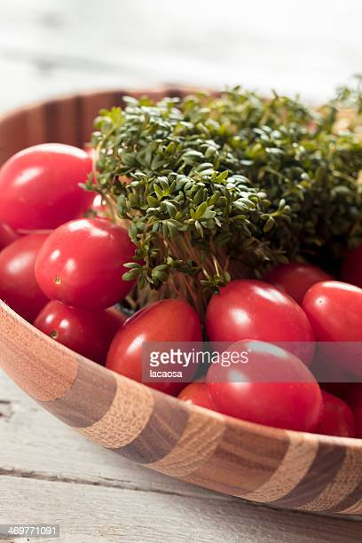 Tomatoes with cresse