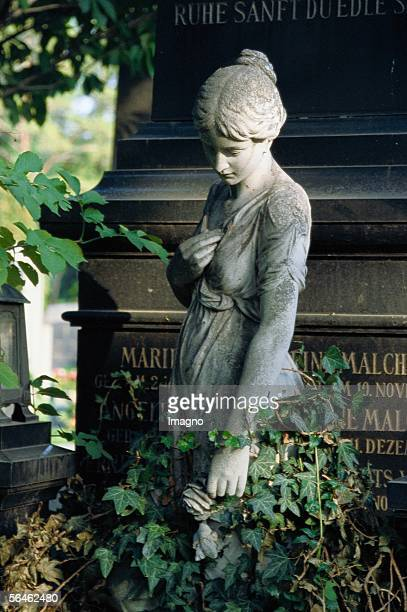 Tomb at the Vienna Central Cemetary Vienna Austria Photography by Dagmar Landova Around 1990 [Grabmal auf dem Wiener Zentralfriedhof Wien oesterreich...