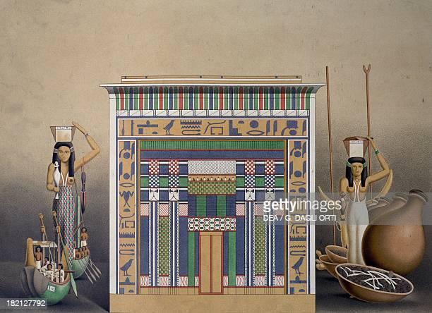 Tomb discovered in the Valley of elAsasif Thebes engraving from Atlas de l'Histoire de l'Art Egyptien d'apres les monuments depuis les temps les plus...