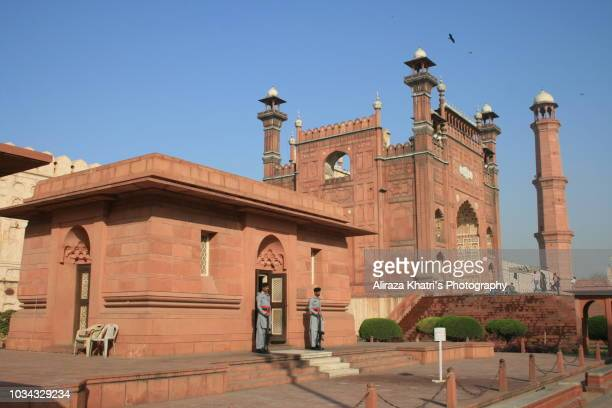 tomb of allama iqbal - lahore, pakistan - allama iqbal stock photos and pictures
