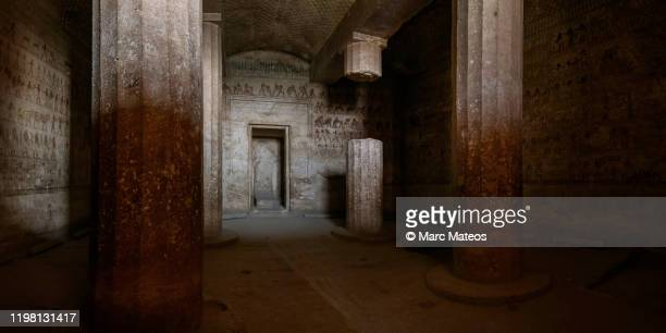 tomb of amenemhat, in beni hassan necropolis - tomb stock pictures, royalty-free photos & images