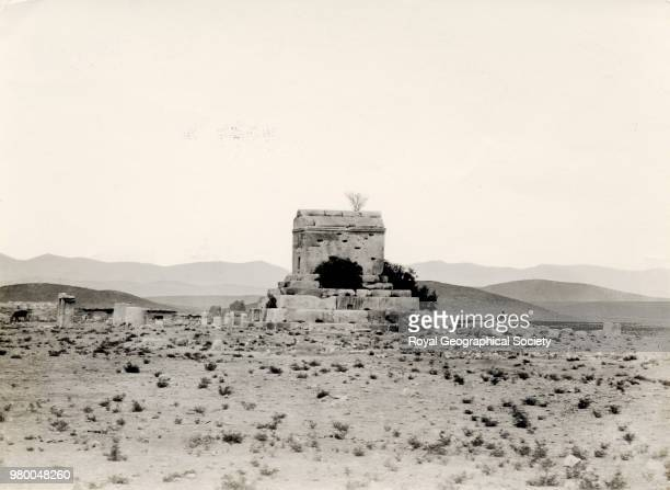 Tomb of Cyrus Pasargade The original caption reads 'Tomb of Cysris at Pasargadee' Cyrus King of Persia died in 529 BC Iran 1947