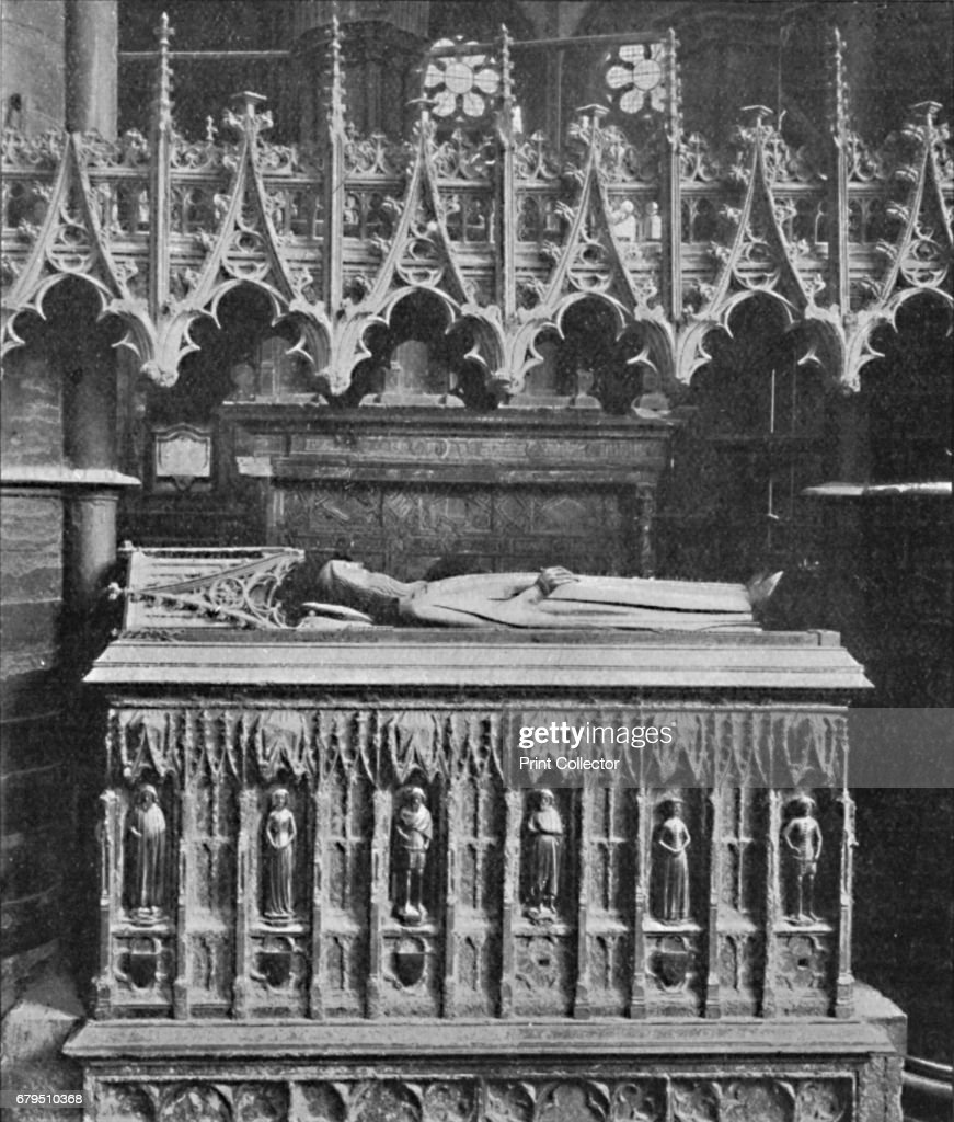 Tomb Of Edward Iii Westminster Abbey 1903 : News Photo