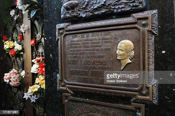 Tomb of Eva Peron, Evita Museum, Palermo, Buenos Aires, Argentina