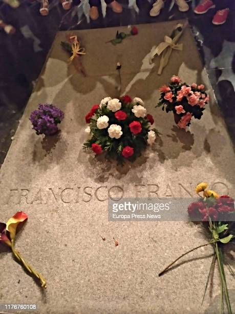 Tomb of Francisco Franco in Valle de los Caídos as the Administrative Chamber of the Supreme Court supports the exhumation of the former dictator of...