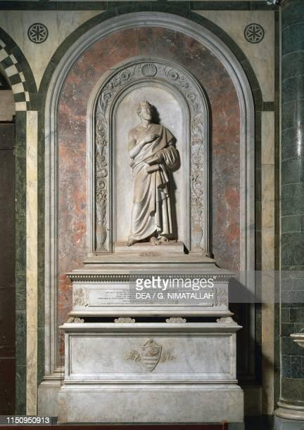 Tomb of Giuseppe Giusti , basilica of San Miniato al Monte , Florence , Tuscany, Italy, 15th century.