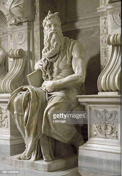 Tomb of Julius II Moses Renaissance Sculpture by Michelangelo 15131545 Church of San Pietro in Vincoli Rome Italy