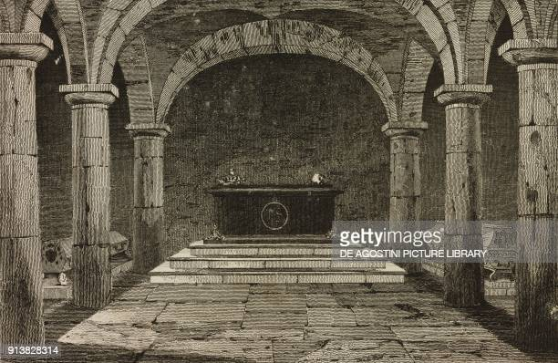 Tomb of King John Sobieski's Poland engraving by Lemaitre and Vernier from Pologne by Charles Foster L'Univers pittoresque Europe published by Firmin...