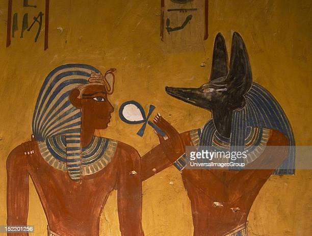 ART EGYPT Tomb of Menjeperura or Thutmose IV Eighth pharaoh of the Eighteenth Dynasty New Kingdom Kingdom TOMB KV43 or Tuthmosis IV tomb Wall...