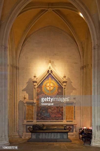 Tomb of Mgr Duparc inside of the Cathedral of Saint-Corentin in Quimper