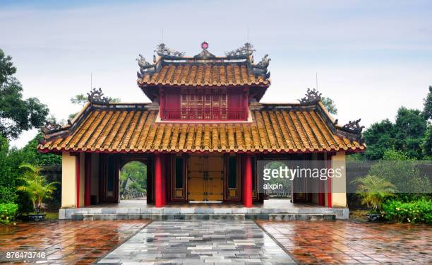 tomb of minh mang, vietnam - tomb stock pictures, royalty-free photos & images