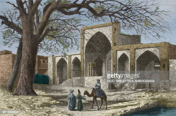Tomb of NadirShah Mashhad Iran drawing by Alexandre de Bar from Narrative of a Journey into Khorasan by N de Khanikoff illustration from Il Giro del...