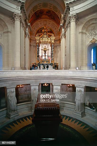 Tomb of Napoleon Bonaparte in the Dome of Invalides or Royal chapel Paris IledeFrance France