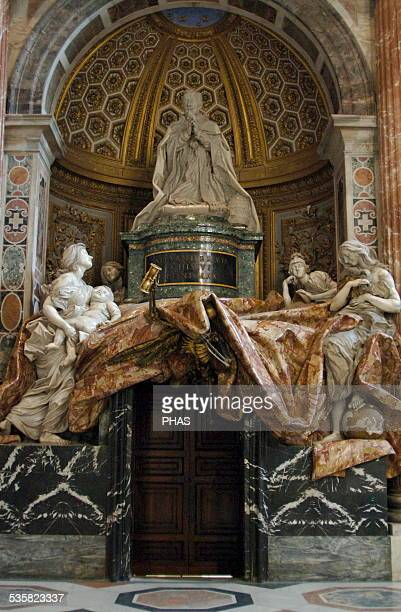 Tomb of Pope Alexander VII Sculptural monument by Gian Lorenzo Bernini built between 16711678 Marble Commissioned by Pope Alexander VII himself South...