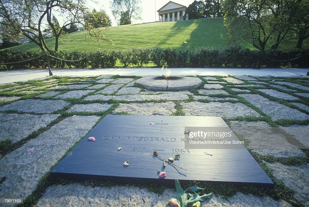 'Tomb of President John F. Kennedy,  Arlington Cemetery, Washington, D.C.' : Stock Photo