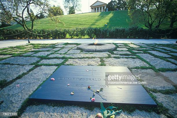"""tomb of president john f. kennedy,  arlington cemetery, washington, d.c."" - john f kennedy burial site stock pictures, royalty-free photos & images"