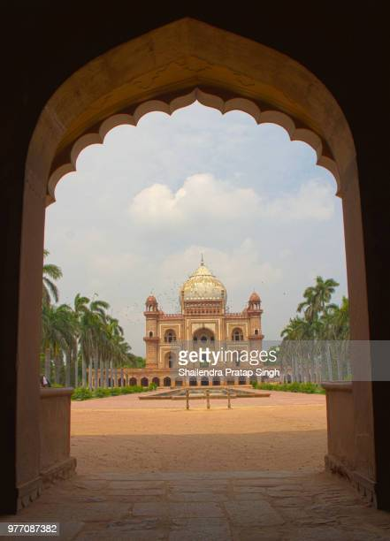 Tomb of Safdarjung seen through arch gate, New Delhi, India