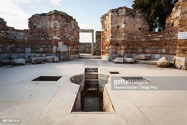 tomb of saint john and baptistry - 6th century bc stock photos and pictures