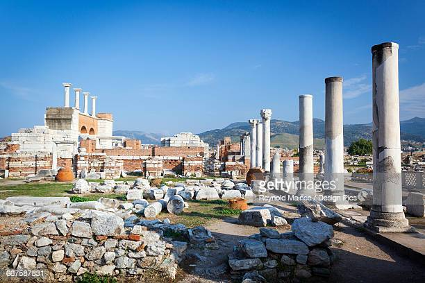 tomb of saint john and saint johns bascilica - 6th century bc stock photos and pictures