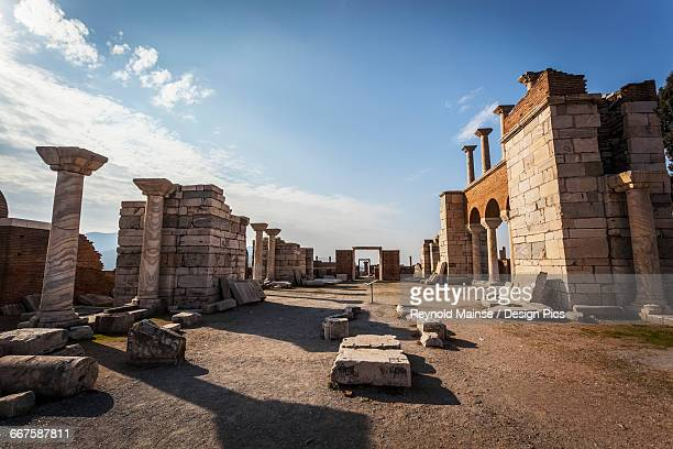 tomb of saint john and saint johns basilica - 6th century bc stock photos and pictures