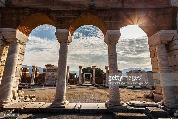 tomb of saint john and saint johns basilica - ephesus stock pictures, royalty-free photos & images