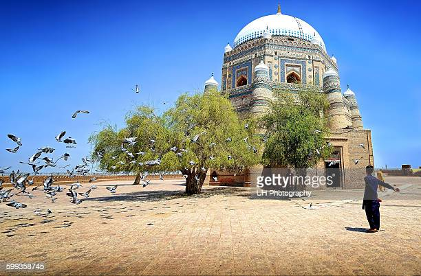 tomb of shah rukn e alam - multan stock photos and pictures