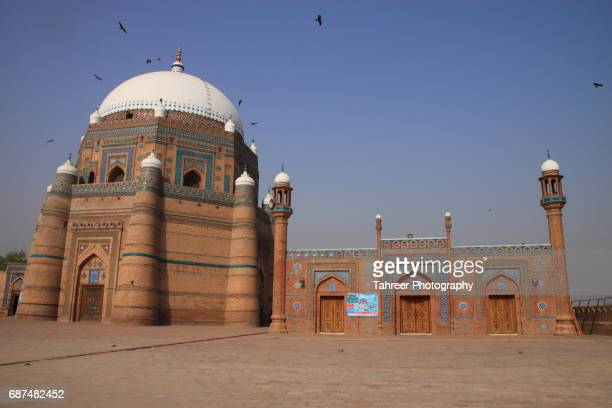 tomb of shah rukn-e-alam multan - pakistani culture stock photos and pictures