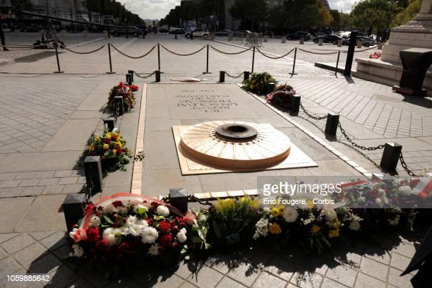 Tomb of the Unknown Soldier under the Arc de Triomphe Paris 8 th Paris France on