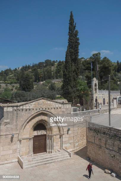 Tomb of the Virgin Mary also known as the Church of the Assumption on 31st March 2016 in Jerusalem West Bank Mary's Tomb is a tomb located on the...