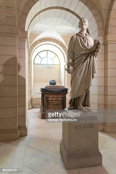 Tomb of Voltaire in Pantheon, Paris