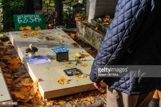 Tombe de Mano Solo le 22 novembre 2014 au cimetière du Père Lachaise Paris France