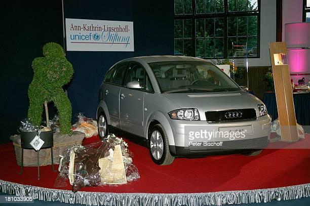 TombolaPreise ua 2Preis 'Audi' Pkw BenefizGala '1 SchafhofFestival für UNICEF' 2003 Kronberg/im Taunus Deutschland Europa 'Schafhof' Bühne Auto...