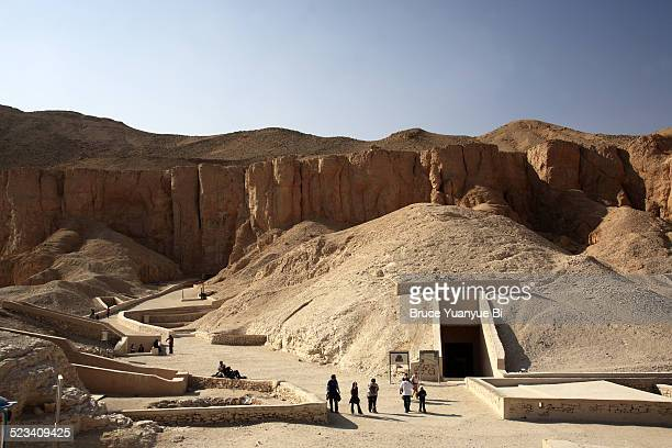 tombs in the vally of kings - luxor thebes stock pictures, royalty-free photos & images