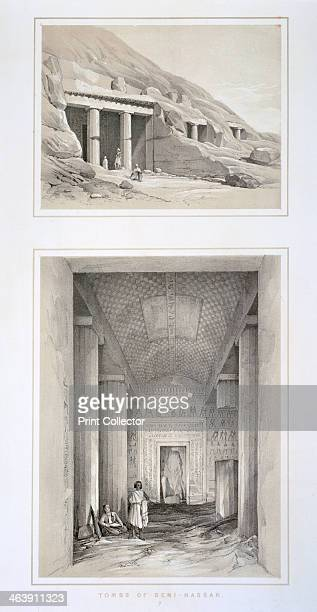 'Tombs of BeniHassan' Egypt 19th century Beni Hasan is the site of 39 tombs dating from the Ancient Egyptian Middle Kingdom From the collection of...